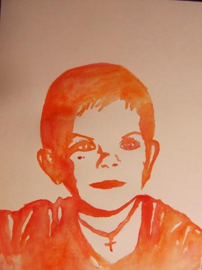 портрет акварелью