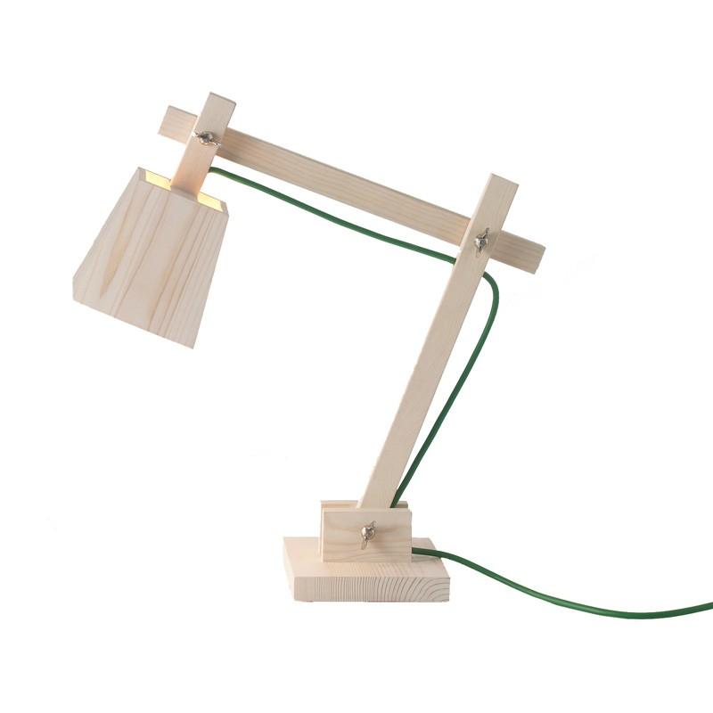 Настольный светильники из дерева своими руками фото