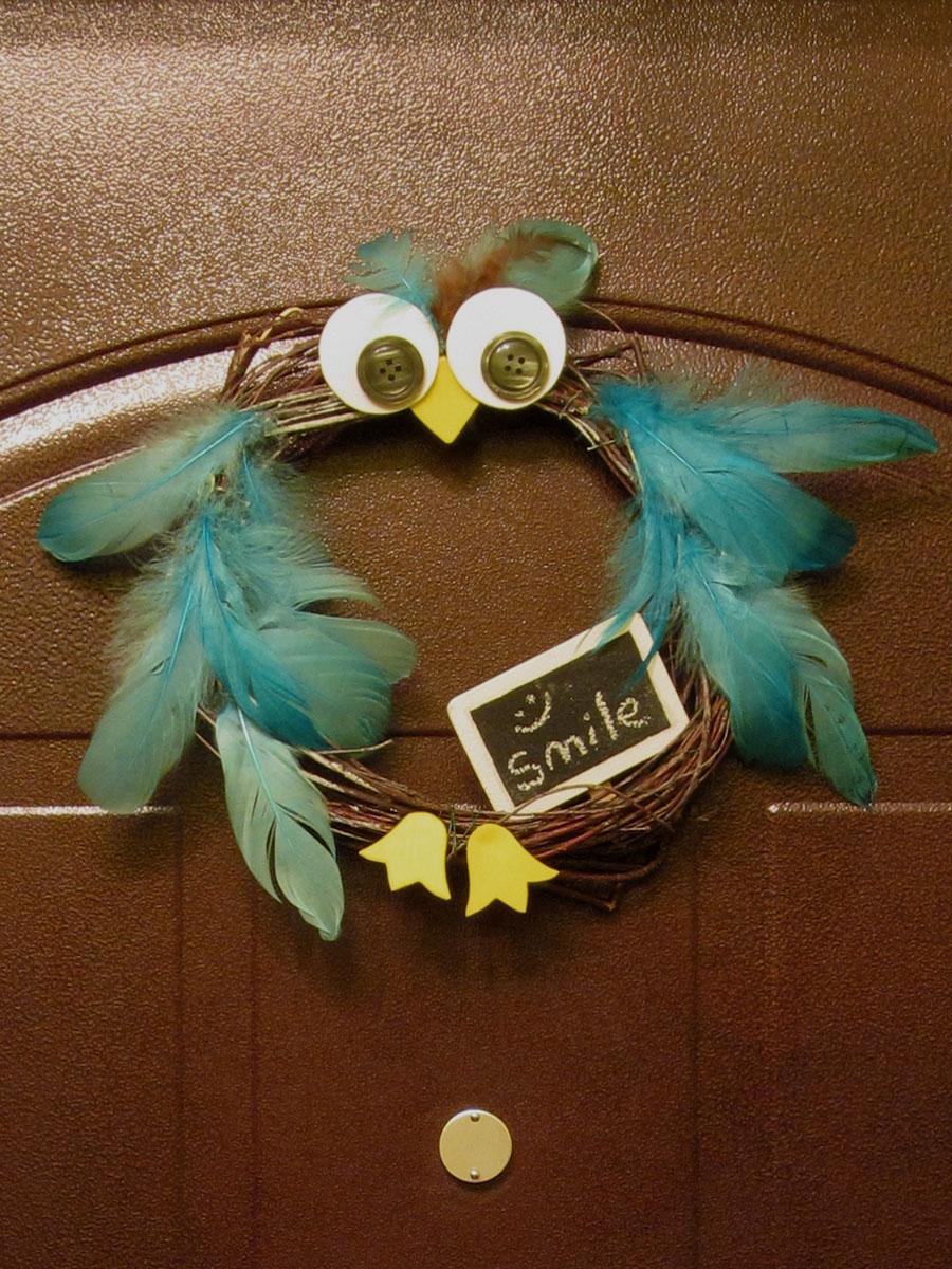 Шаблон совы для открытки