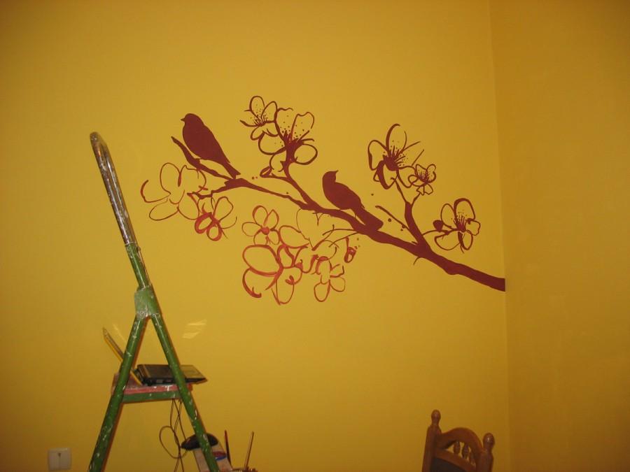 Стены с рисунками своими руками 80
