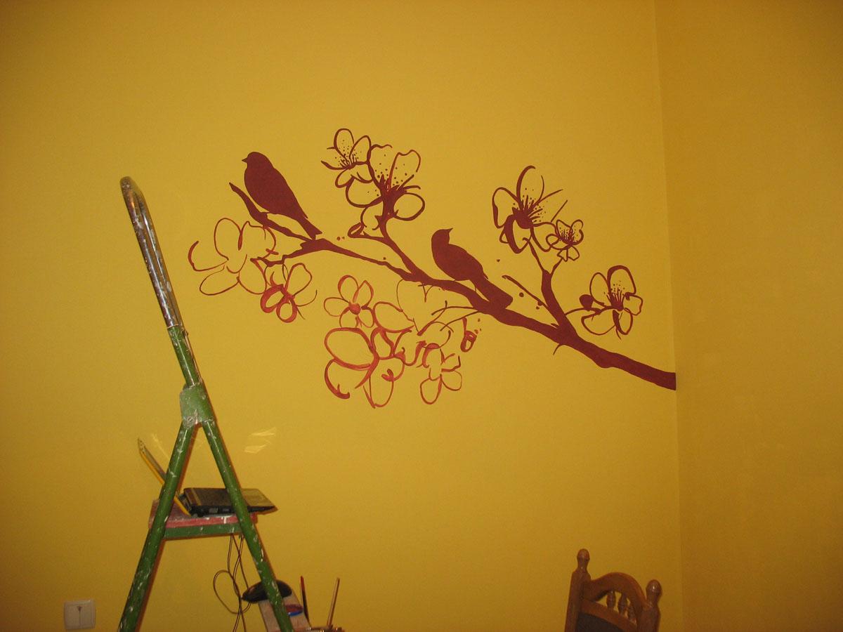 Рисунок на стене своим рук 890