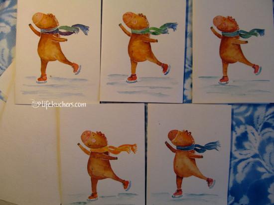 открытки акварелью своими руками