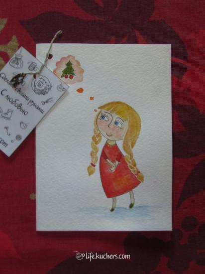 открытки ручной работы к новому году и дню святого валентина