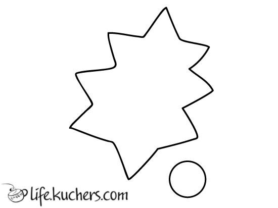 выкройка листа падуба рождественского растения из фетра