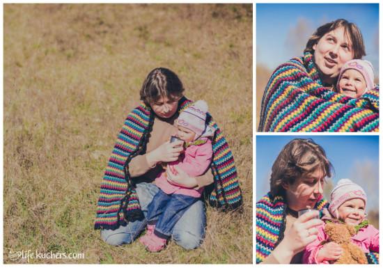 Семейная фотосессия на американский манер, папа с дочкой в сухой траве