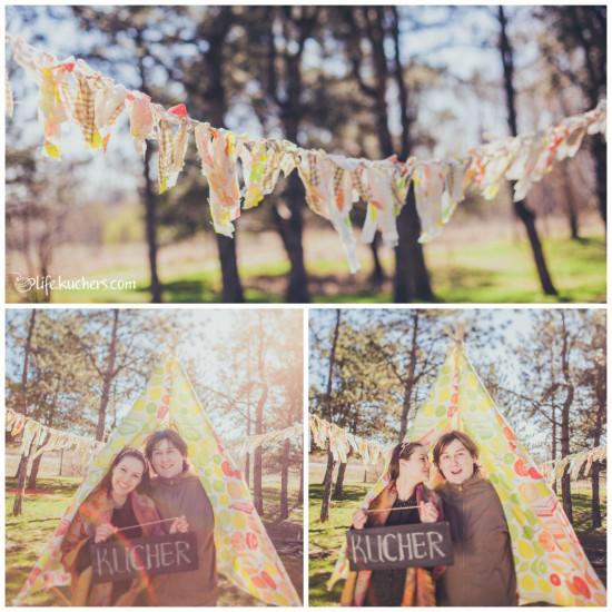 Семейная фотосессия на американский манер, палатка типпи