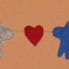 Гирлянда с сердечками и оленями