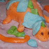 """Украшение торта мастикой """"Маленький динозаврик"""""""